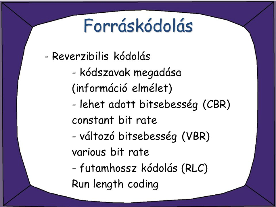 Forráskódolás - Reverzibilis kódolás - kódszavak megadása
