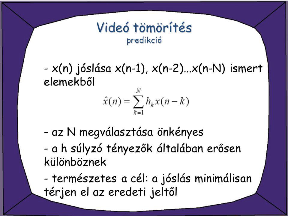 Videó tömörítés predikció