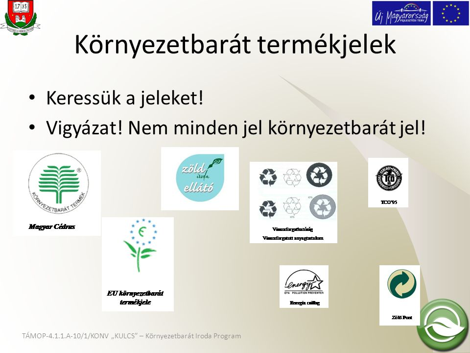 Környezetbarát termékjelek