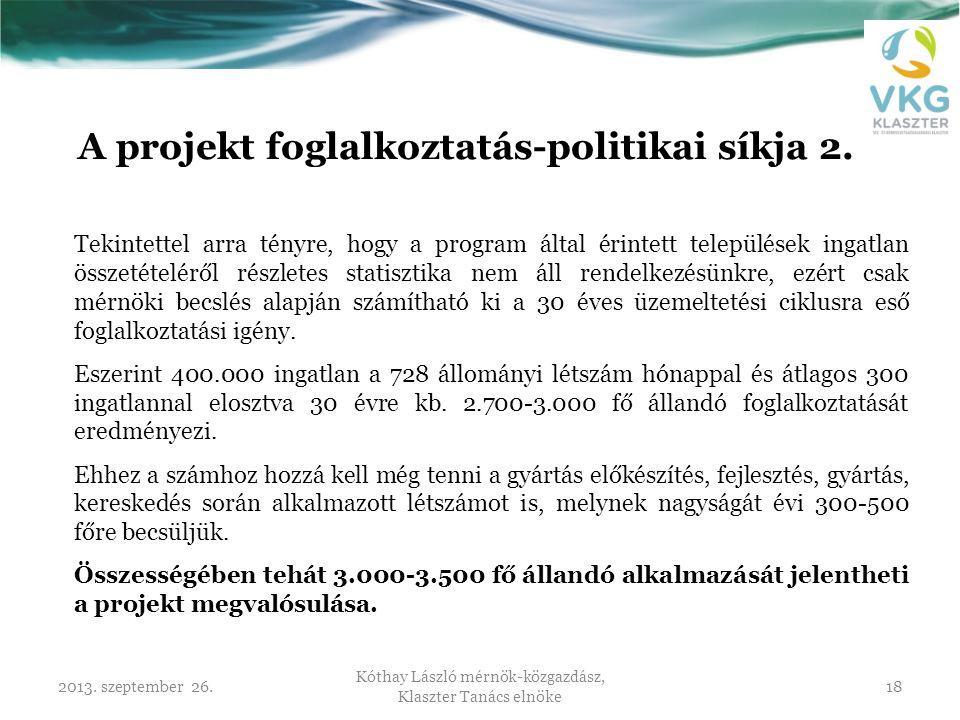 A projekt foglalkoztatás-politikai síkja 2.