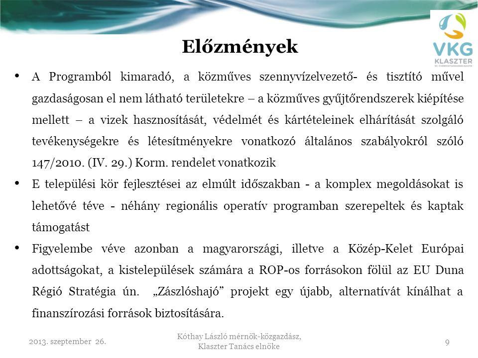 Kóthay László mérnök-közgazdász, Klaszter Tanács elnöke
