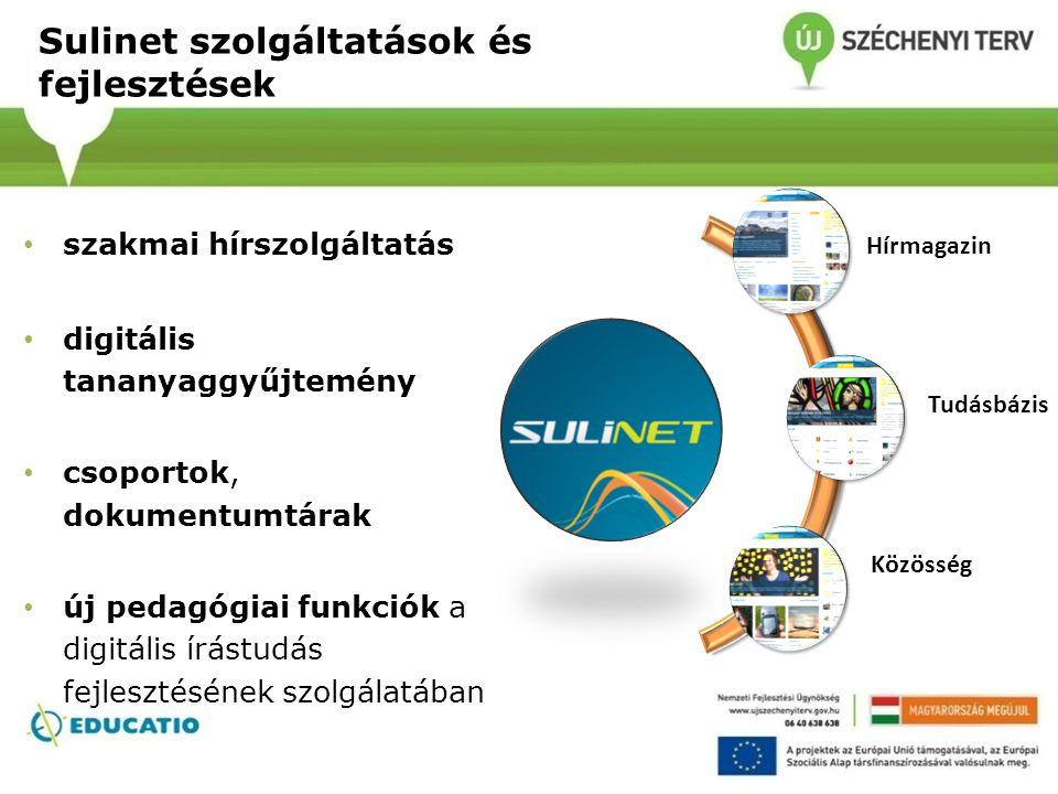 Sulinet szolgáltatások és fejlesztések