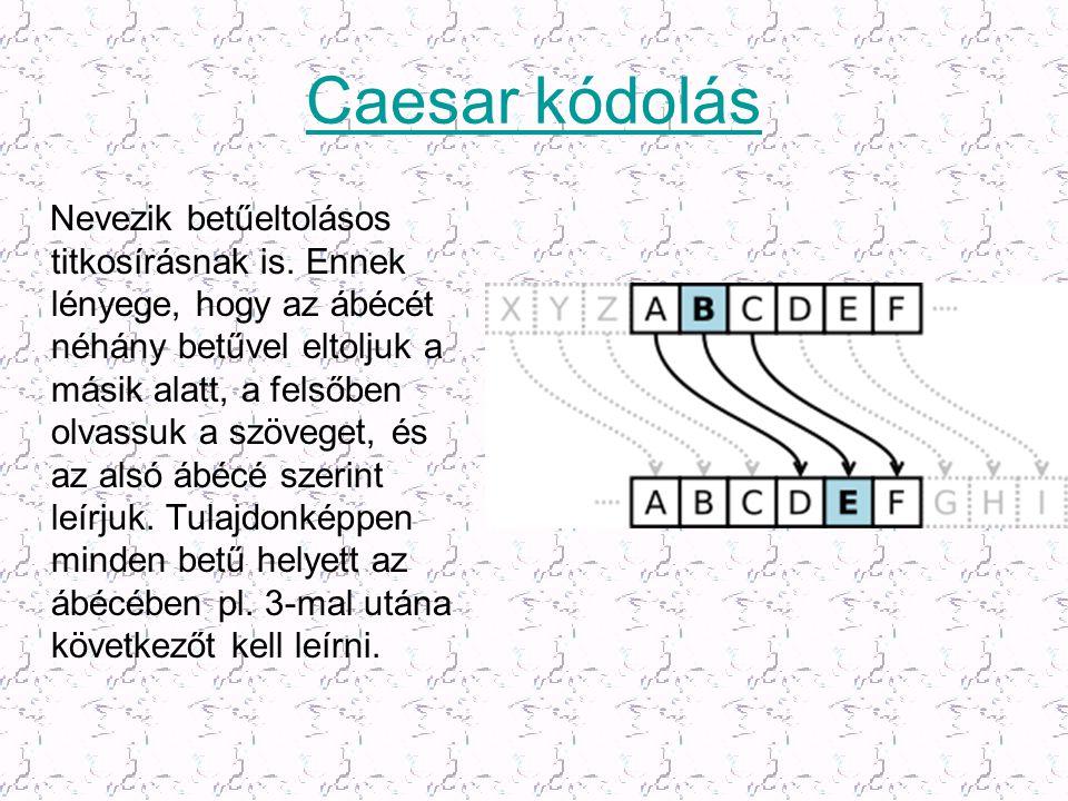 Caesar kódolás