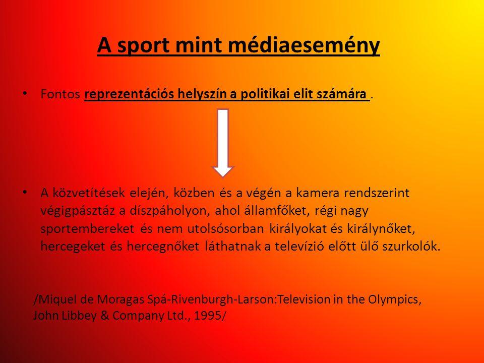 A sport mint médiaesemény