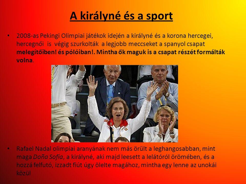 A királyné és a sport