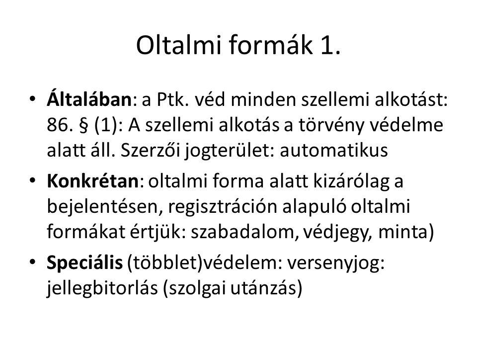 Oltalmi formák 1.