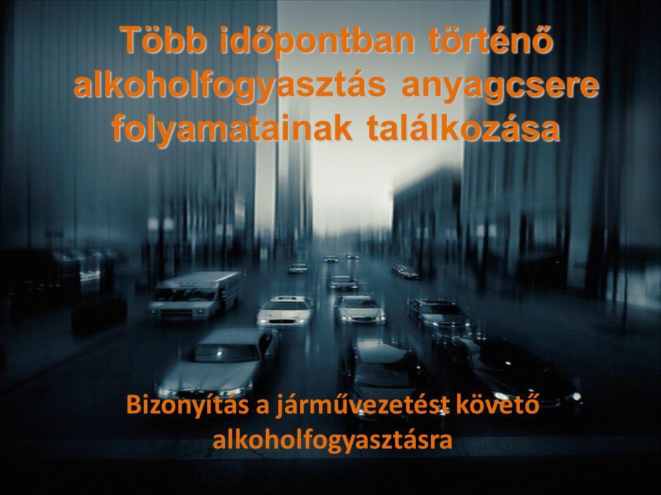 Bizonyítás a járművezetést követő alkoholfogyasztásra