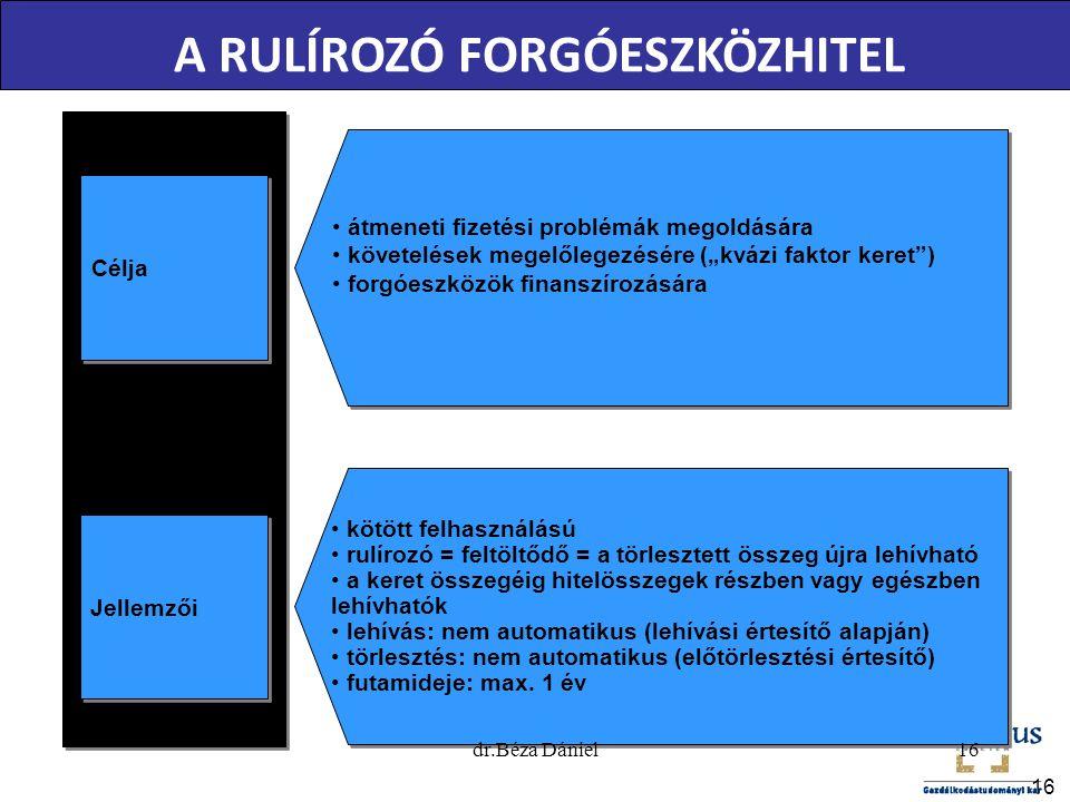 A RULÍROZÓ FORGÓESZKÖZHITEL