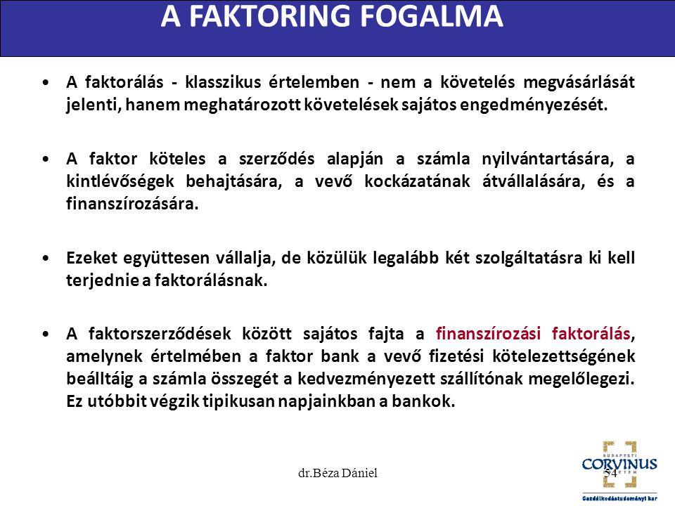 A FAKTORING FOGALMA