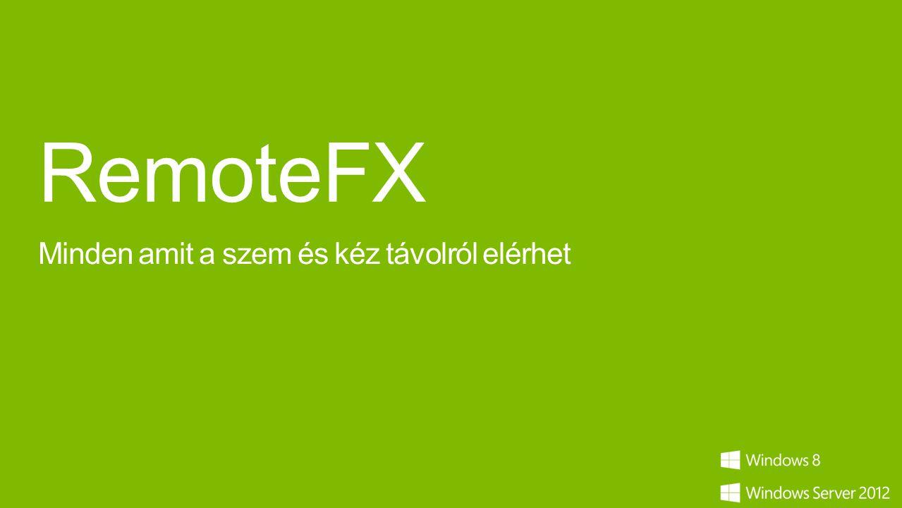 RemoteFX Minden amit a szem és kéz távolról elérhet