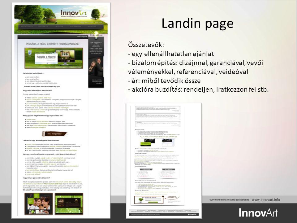 Landin page Összetevők: egy ellenállhatatlan ajánlat