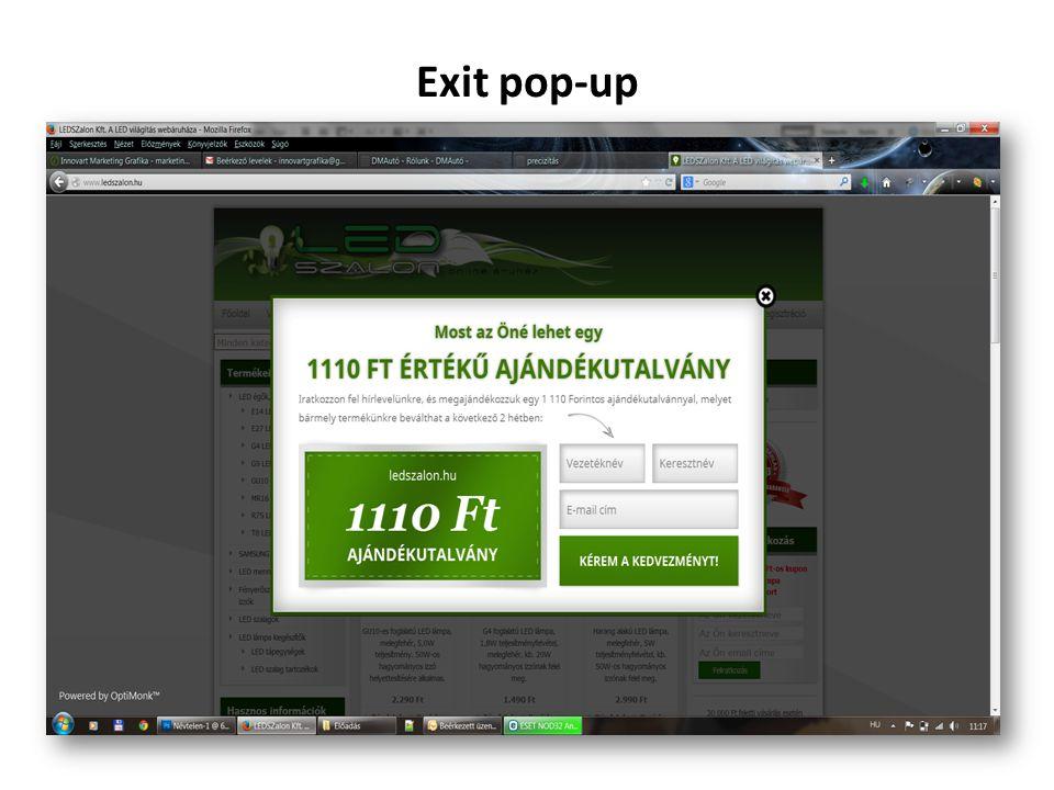 Exit pop-up
