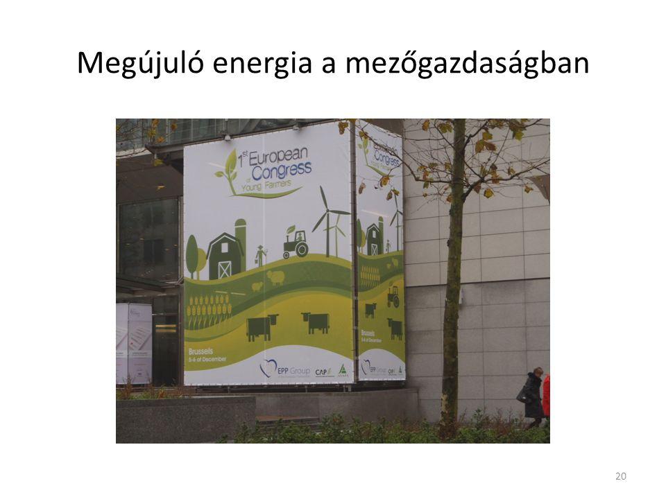 Megújuló energia a mezőgazdaságban