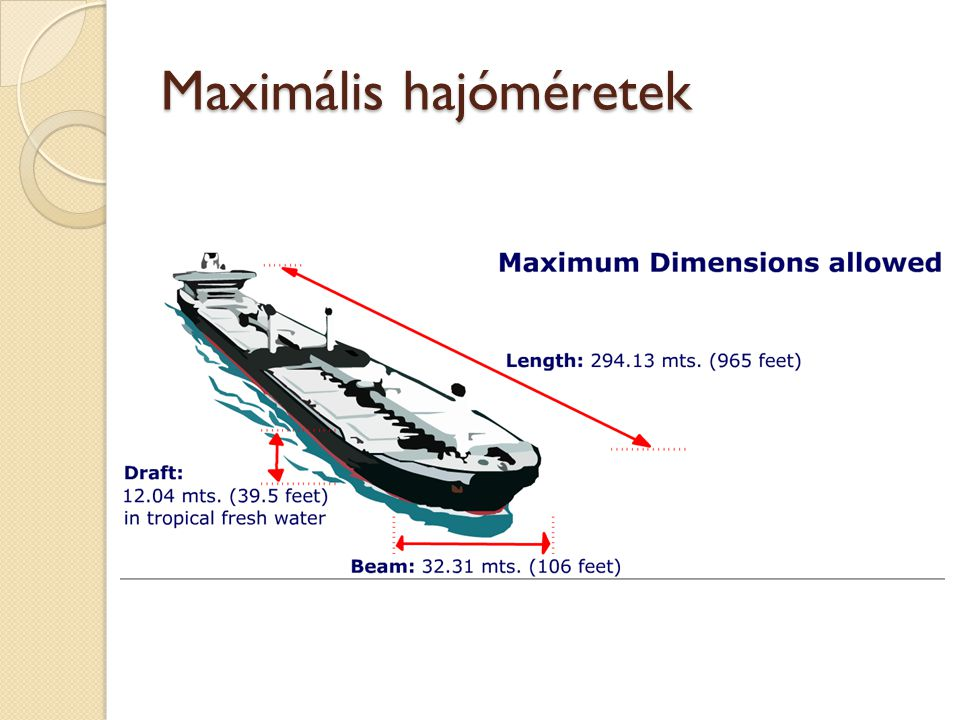 Maximális hajóméretek