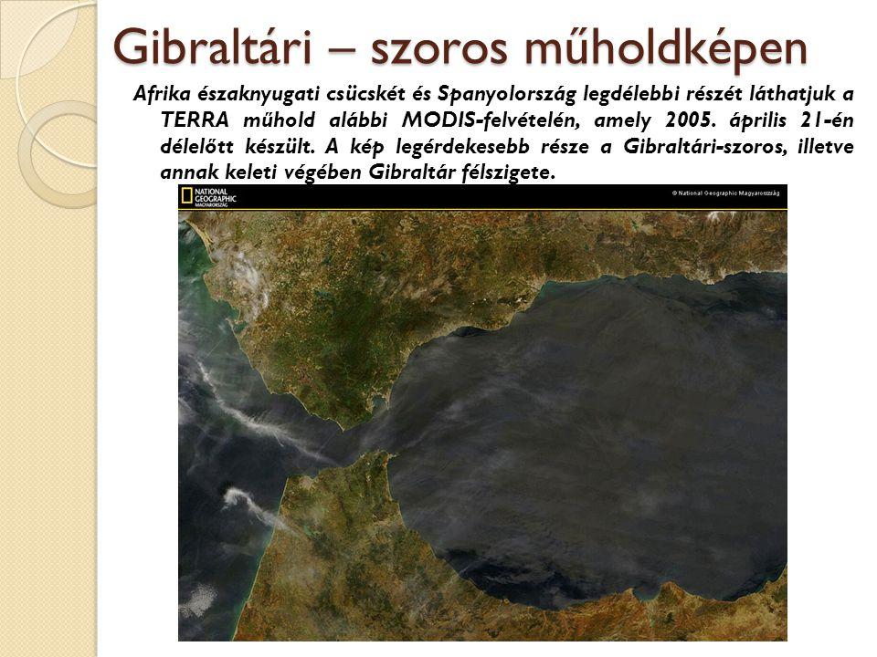 Gibraltári – szoros műholdképen