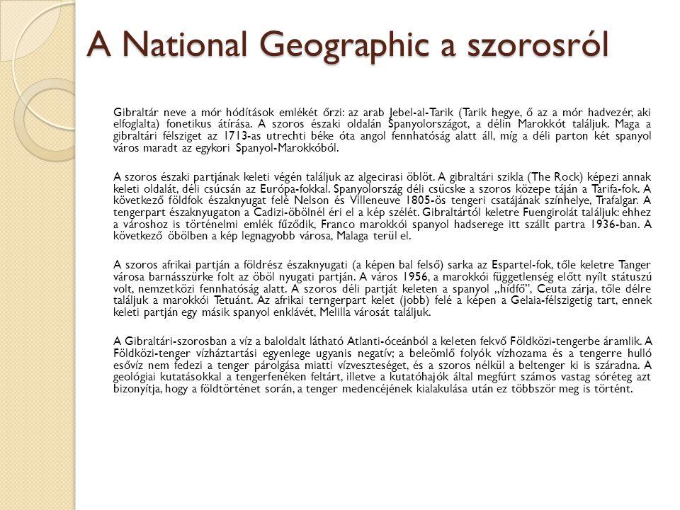 A National Geographic a szorosról