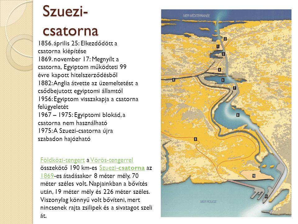 Szuezi-csatorna 1856. április 25: Elkezdődött a csatorna kiépítése