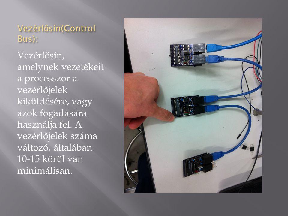 Vezérlősín(Control Bus):