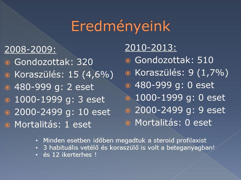 Eredményeink 2010-2013: 2008-2009: Gondozottak: 510 Gondozottak: 320