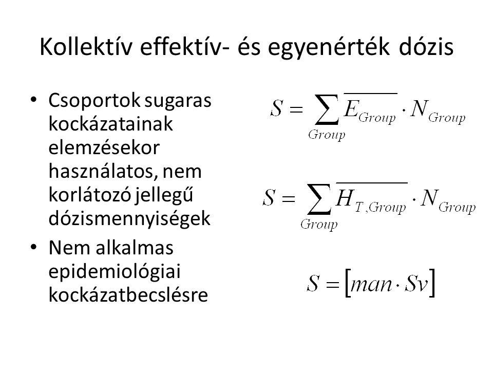 Kollektív effektív- és egyenérték dózis
