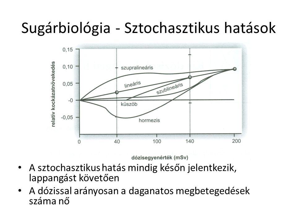 Sugárbiológia - Sztochasztikus hatások