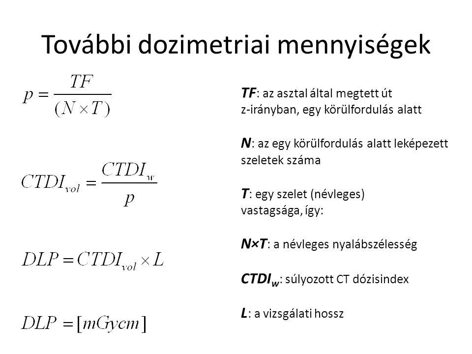 További dozimetriai mennyiségek