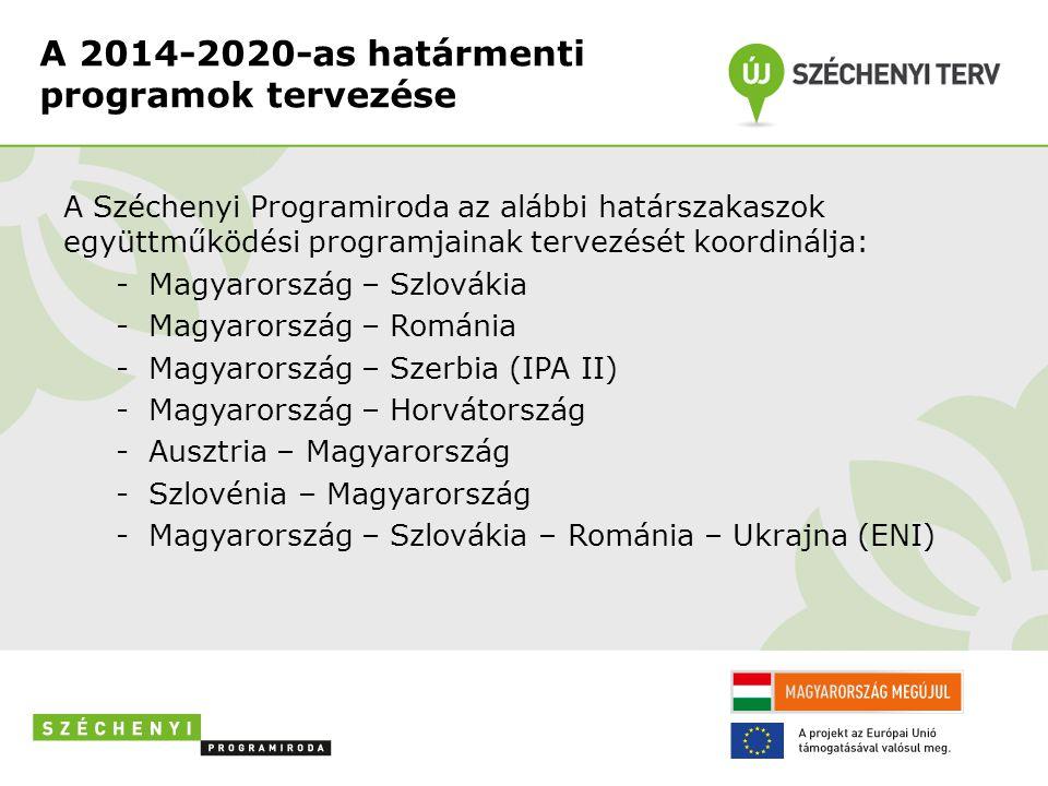 A 2014-2020-as határmenti programok tervezése