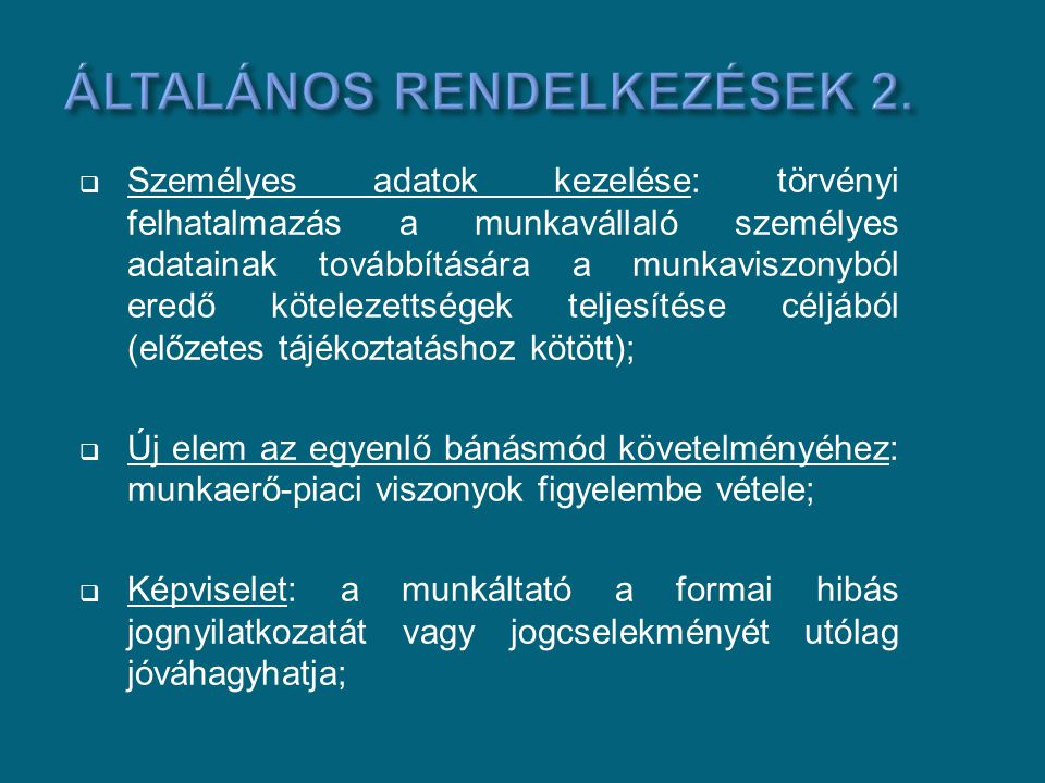 Általános rendelkezések 2.
