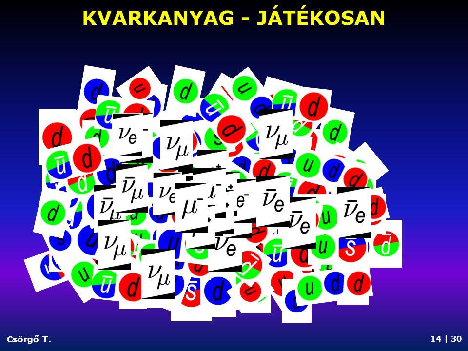 KVARKANYAG - JÁTÉKOSAN