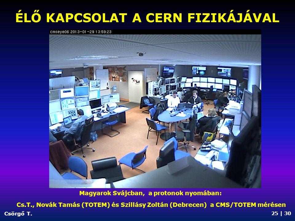 ÉLŐ KAPCSOLAT a CERN fizikájával