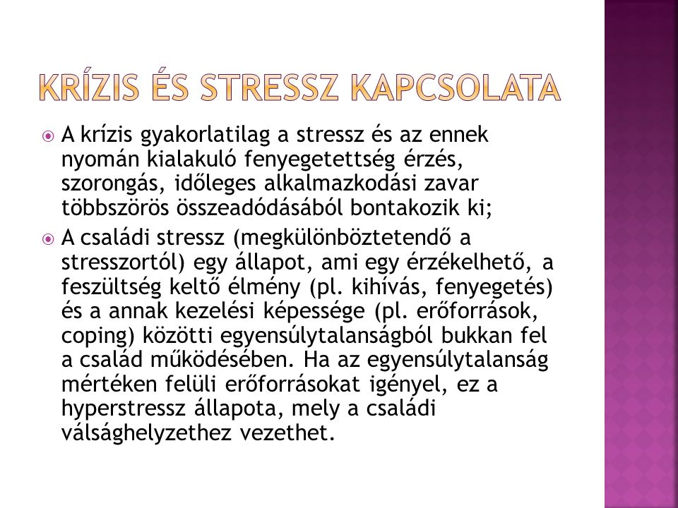 Krízis és stressz kapcsolata