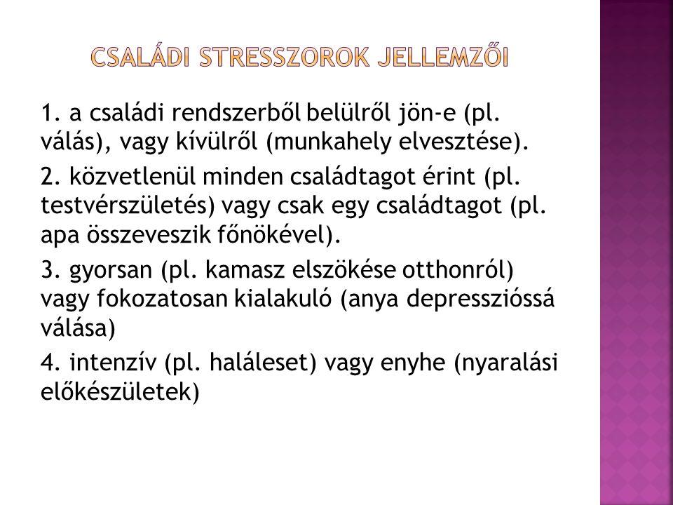 Családi stresszorok jellemzői