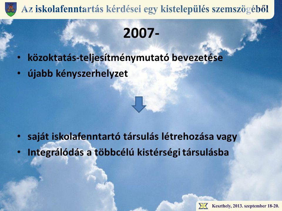 2007- közoktatás-teljesítménymutató bevezetése újabb kényszerhelyzet