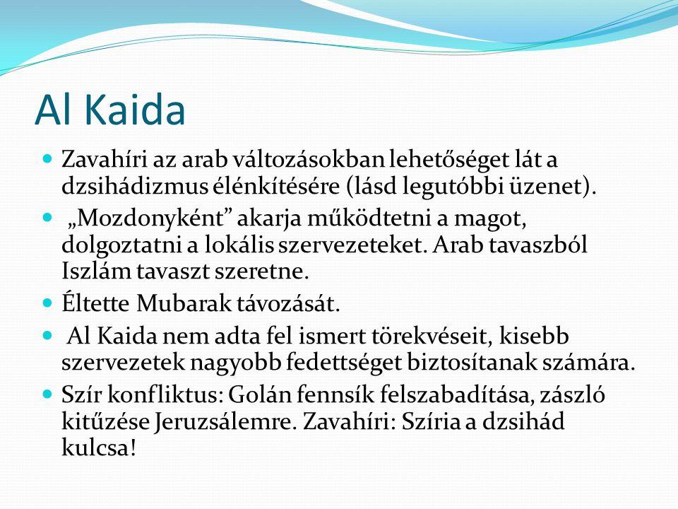 Al Kaida Zavahíri az arab változásokban lehetőséget lát a dzsihádizmus élénkítésére (lásd legutóbbi üzenet).