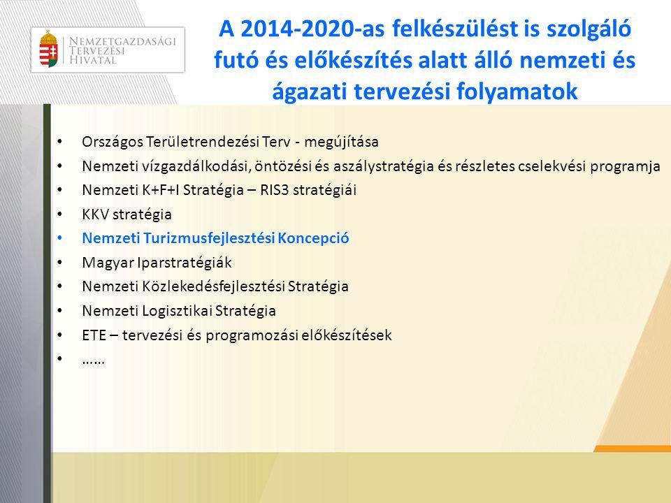 A 2014-2020-as felkészülést is szolgáló futó és előkészítés alatt álló nemzeti és ágazati tervezési folyamatok