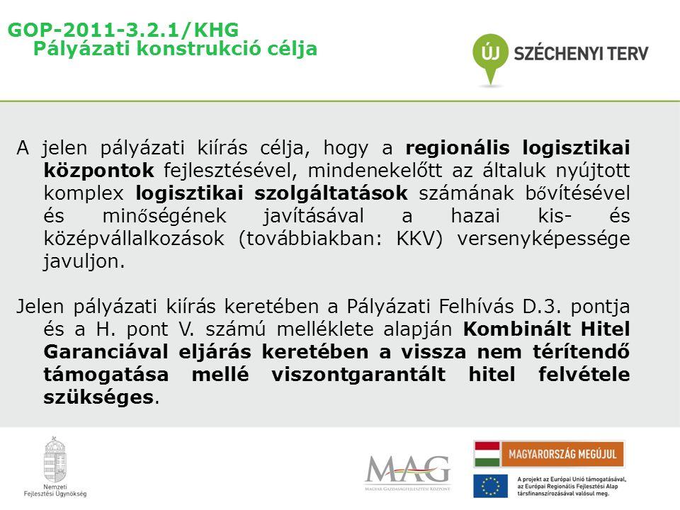 GOP-2011-3.2.1/KHG Pályázati konstrukció célja