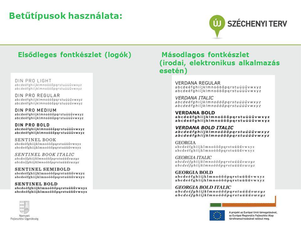 Betűtípusok használata: