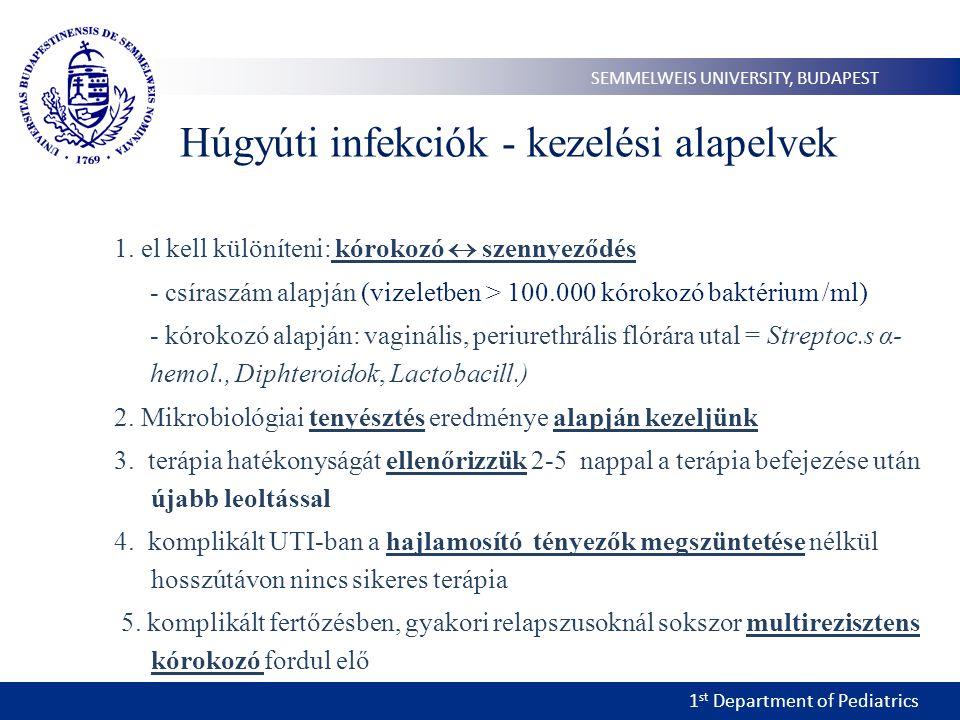 Húgyúti infekciók - kezelési alapelvek