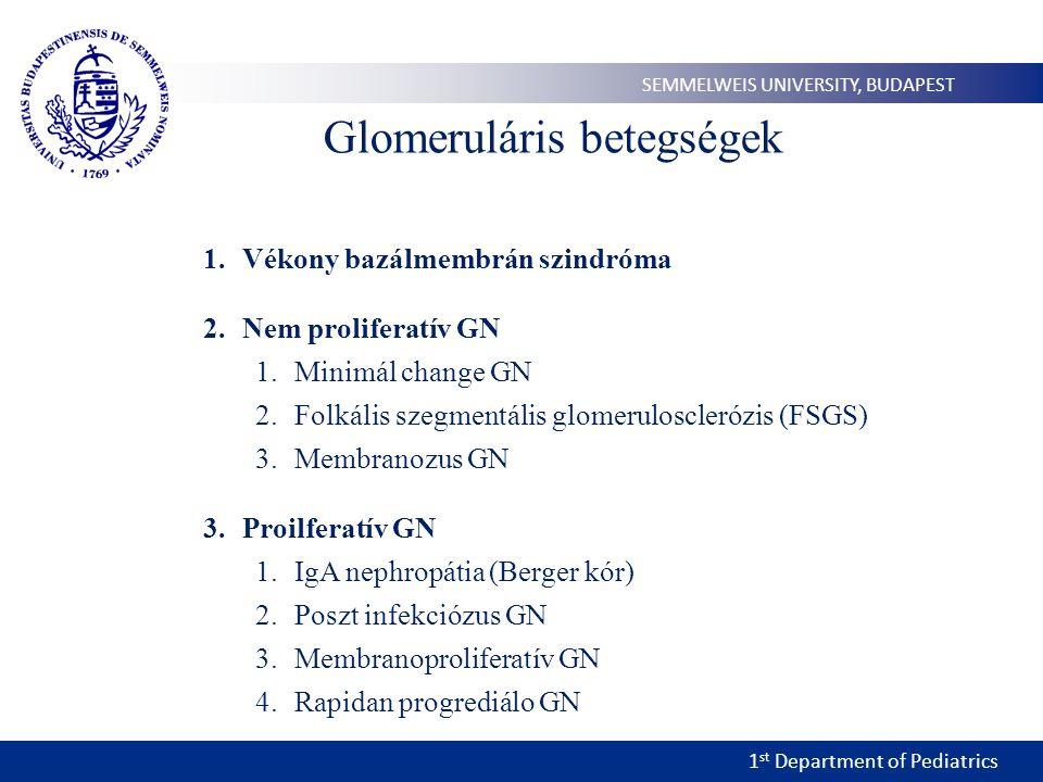 Glomeruláris betegségek