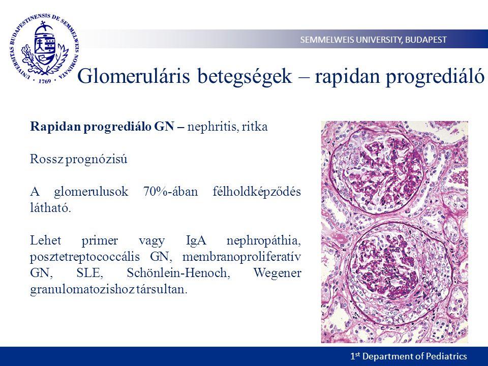 Glomeruláris betegségek – rapidan progrediáló