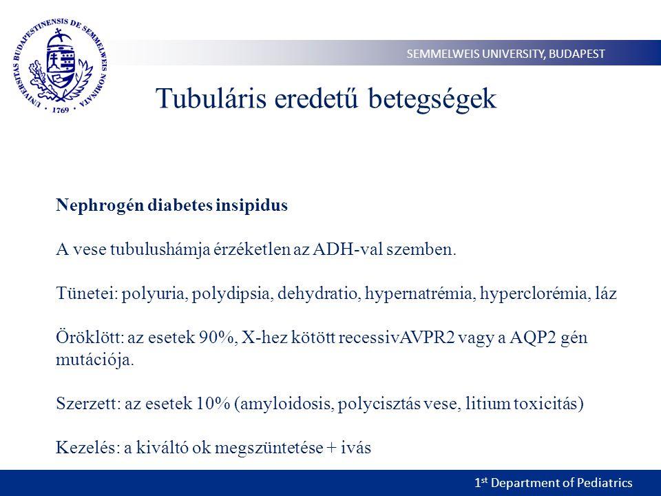 Tubuláris eredetű betegségek