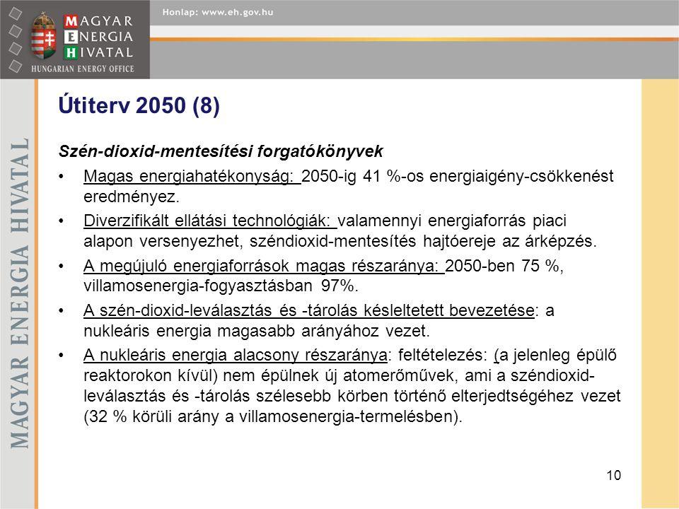 Útiterv 2050 (8) Szén-dioxid-mentesítési forgatókönyvek