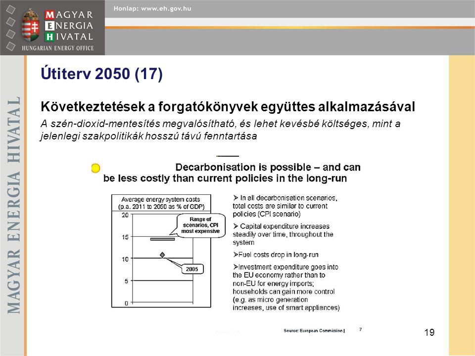 Útiterv 2050 (17) Következtetések a forgatókönyvek együttes alkalmazásával.