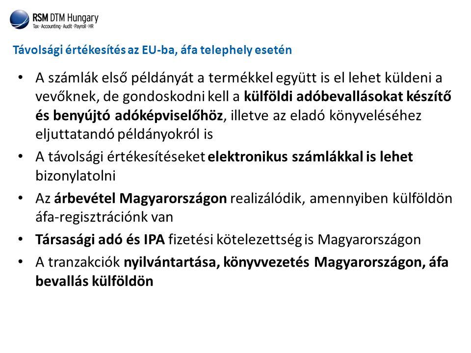 Társasági adó és IPA fizetési kötelezettség is Magyarországon