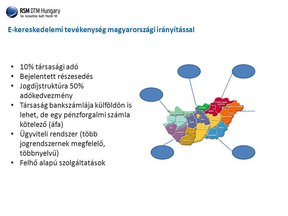 E-kereskedelemi tevékenység magyarországi irányítással