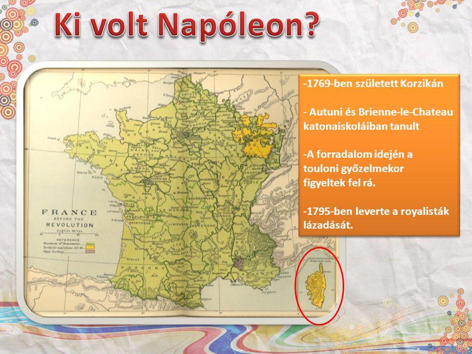 Ki volt Napóleon 1769-ben született Korzikán