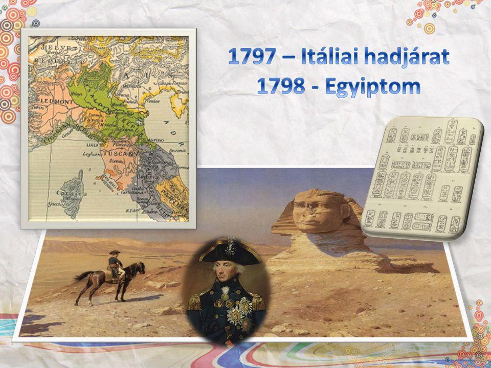 1797 – Itáliai hadjárat 1798 - Egyiptom