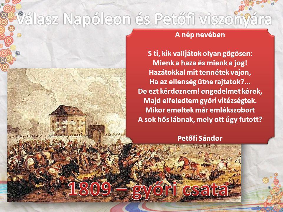 Válasz Napóleon és Petőfi viszonyára