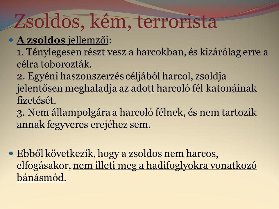 Zsoldos, kém, terrorista