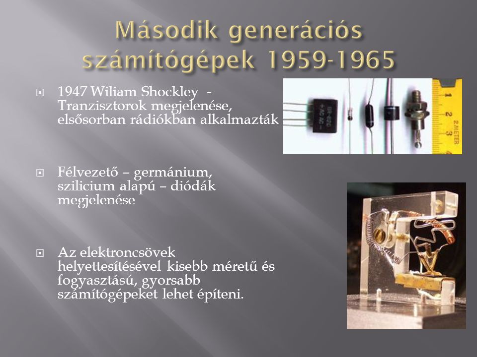 Második generációs számítógépek 1959-1965